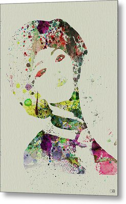 Japanese Woman Metal Print by Naxart Studio