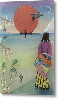 Japanese Woman Metal Print by Sally Appleby