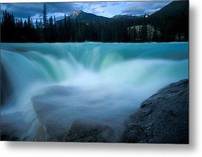 Jasper - Athabasca Falls 2 Metal Print by Terry Elniski