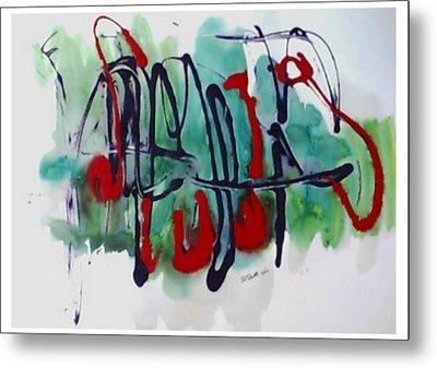 Jazz 2nd Series Painting 5 Metal Print by B L Qualls