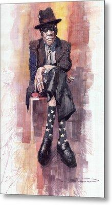 Jazz Bluesman John Lee Hooker Metal Print by Yuriy  Shevchuk
