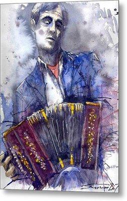 Jazz Concertina Player Metal Print