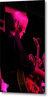 Metal Print featuring the photograph Jazz Guitarist by Lori Seaman
