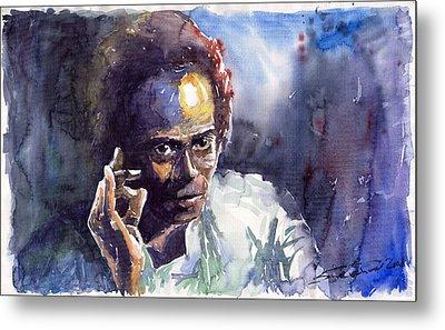 Jazz Miles Davis 11 Metal Print by Yuriy  Shevchuk
