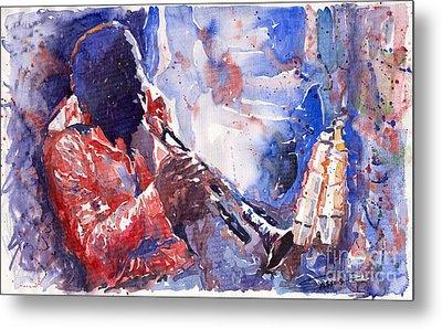 Jazz Miles Davis 15 Metal Print by Yuriy  Shevchuk