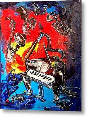 Jazz Piano Metal Print by Mark Kazav