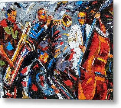 Jazz Unit Metal Print by Debra Hurd