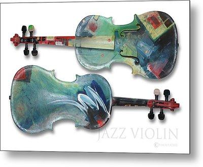 Jazz Violin - Poster Metal Print by Tim Nyberg