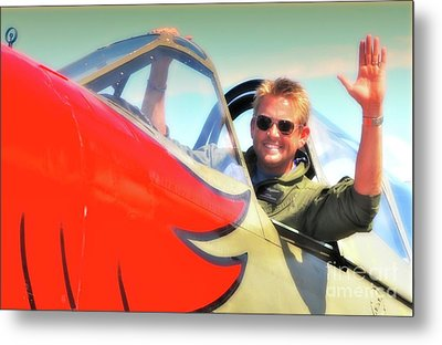 Jc Paul And P-40 Parrothead Reno Air Races 2010 Metal Print by Gus McCrea