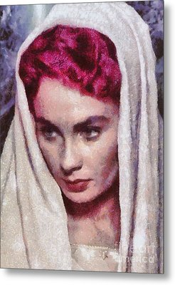 Jean Simmons, Vintage Hollywood Actress Metal Print by Mary Bassett