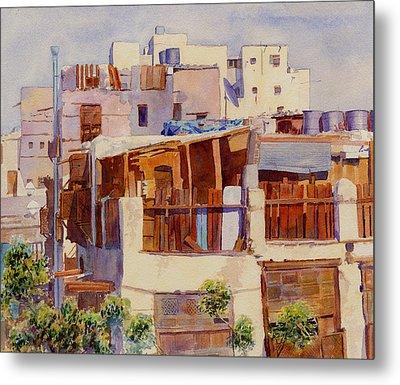 Jeddah Rooftops Metal Print by Dorothy Boyer
