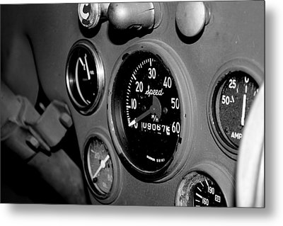 Jeep Gauges Metal Print by Gina  Zhidov