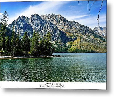 Jenny Lake Metal Print by Greg Norrell