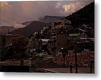 Jerome On The Edge Of Sunrise Metal Print by Ron Chilston