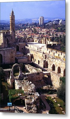 Jerusalem From The Tower Of David Museum Metal Print by Thomas R Fletcher