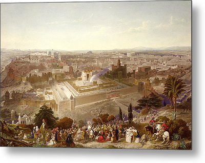 Jerusalem In Her Grandeur Metal Print by Henry Courtney Selous