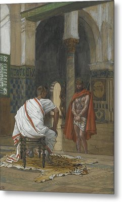 Jesus Before Pilate Metal Print by Tissot