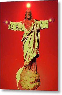 Jesus Bless No. 01 Metal Print by Ramon Labusch