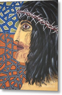 Metal Print featuring the painting Jesus by Jeffrey Koss