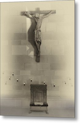 Jesus On The Cross Chapel Icon Metal Print by Daniel Hagerman