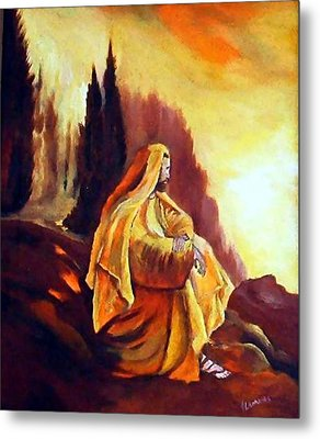 Jesus On The Mountain Metal Print by Julie Lamons