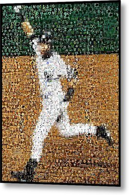 Jeter Walk-off Mosaic Metal Print by Paul Van Scott