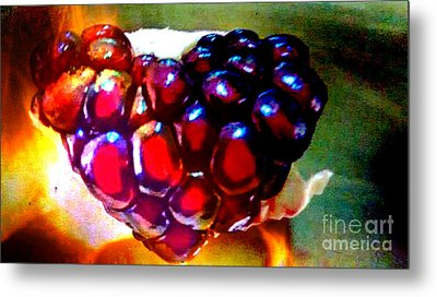 Jeweled Heart In Light And Dark Metal Print by Genevieve Esson