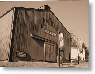 Jim Beam Distillery Sepia Metal Print