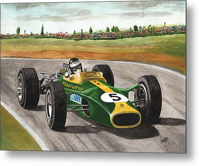 Jim Clark Natural Born Racer Metal Print