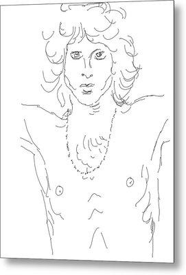 Jim Morrison Metal Print by Angela Murray
