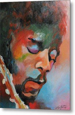 Jimi Hendrix At Monterrey Metal Print