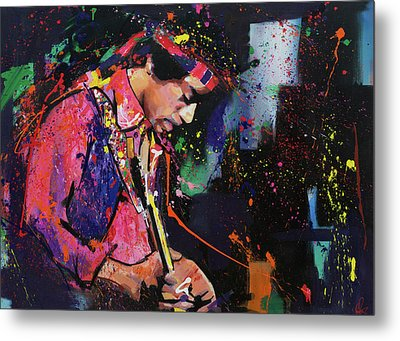 Jimi Hendrix II Metal Print by Richard Day