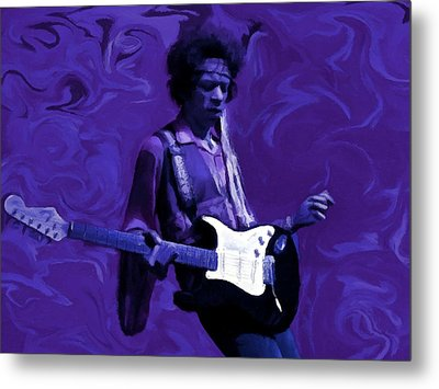 Jimi Hendrix Purple Haze P D P Metal Print by David Dehner