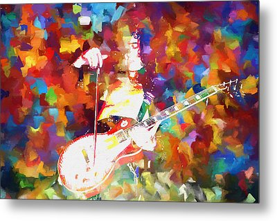 Jimmy Page Jamming Metal Print by Dan Sproul