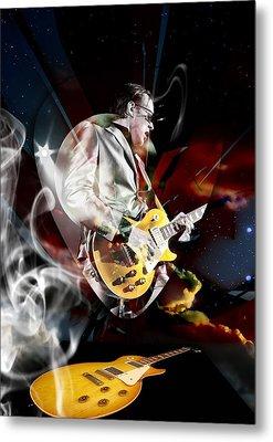 Joe Bonamassa Blue Guitarist Metal Print by Marvin Blaine