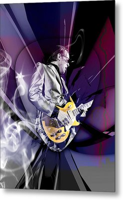 Joe Bonamassa Blues Guitarist Art Metal Print by Marvin Blaine