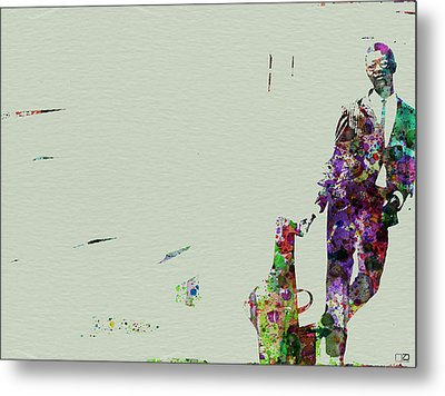 Joe Henderson Watercolor 2 Metal Print by Naxart Studio