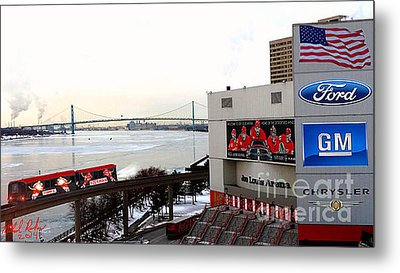 Joe Louis Arena Metal Print by Michael Rucker