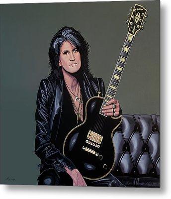 Joe Perry Of Aerosmith Painting Metal Print