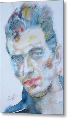 Joe Strummer - Watercolor Portrait.5 Metal Print