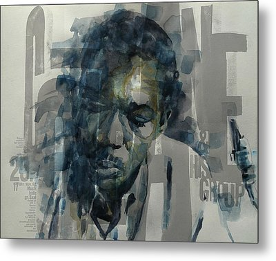 Metal Print featuring the mixed media John Coltrane  by Paul Lovering