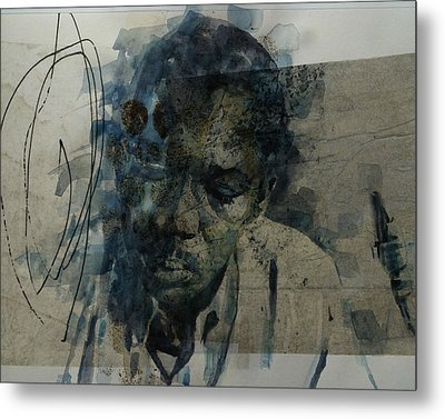 Metal Print featuring the mixed media John Coltrane / Retro by Paul Lovering