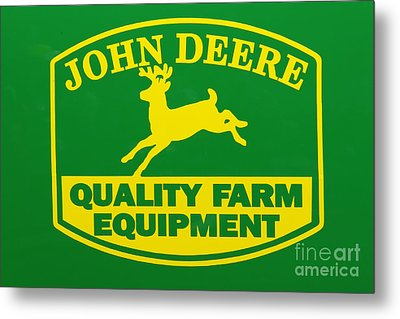 John Deere Farm Equipment Sign Metal Print by Randy Steele