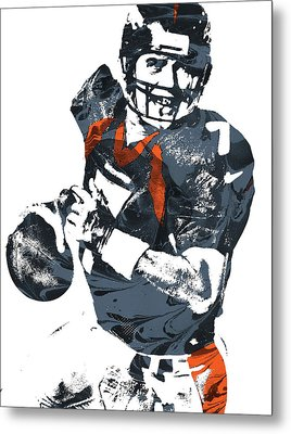 John Elway Denver Broncos Pixel Art Metal Print by Joe Hamilton
