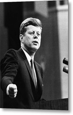 John F. Kennedy, Urges The Senate Metal Print by Everett
