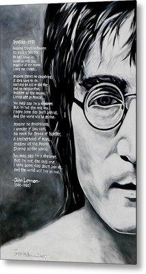 John Lennon - Imagine Metal Print