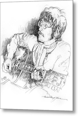 John Lennon Metal Print by David Lloyd Glover
