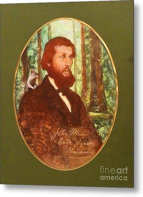 John Muir With Chip On His Shoulder Metal Print by Kean Butterfield
