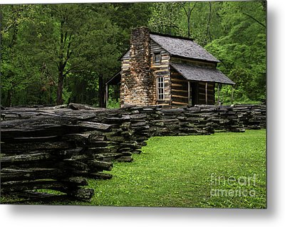 John Oliver Cabin Metal Print by Andrea Silies
