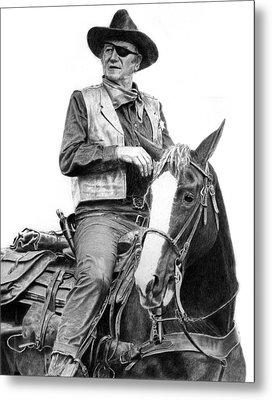 John Wayne As Rooster Cogburn Metal Print by Ronny Hart